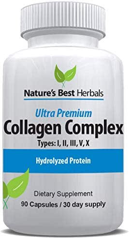 Premium Multi Collagen PEPTIDE Pill (Types I, II, III, V, X) | Anti-Aging Supplement, Healthy Skin & Hair, Strong Joints, Bones & Nails | HYDROLYZED Protein Supplement for Women and Men | 1500 mg