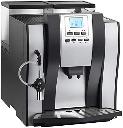 OMLTER Coffee Maker with Automatic Cleaning Home Automatic Grinding Bean Foam, Automatic Milk Foam System Quadruple Protection System Coffee Machine LED Coffee Brewer