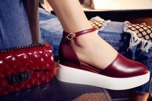 hexiajia - Zapatos Planos con Cordones mujer Red