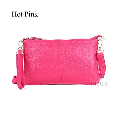 da AASSDDFF Busta donna Designer Evening Borse Small giallo caldo Genuine Shoulder donna Casual Clutch rosa Borsa Femminile Bags Party Crossbody rvdOrqnf
