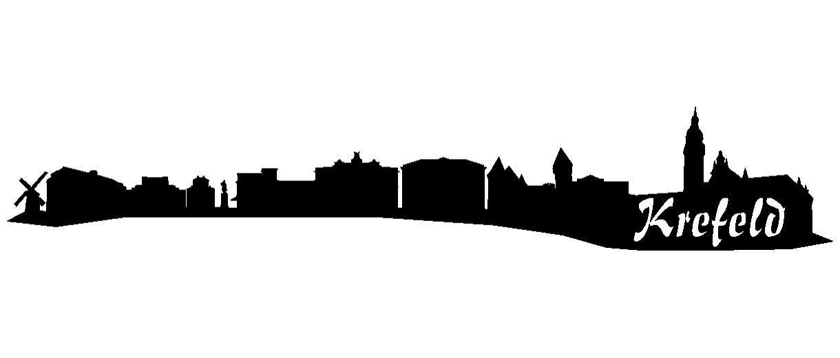 Samunshi® Aufkleber Krefeld Skyline Autoaufkleber in 9 Größen und 25 25 25 Farben (140x25cm kupfermetalleffekt) B007JFP8II | Zuverlässige Leistung  5a5d5f