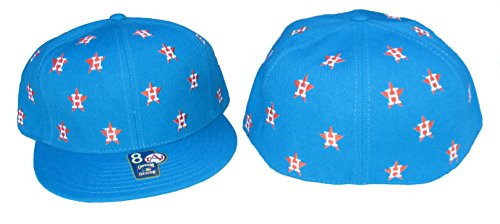 American Needle Houston Astros DICE Fitted Hat Cap Size 8 - Teal