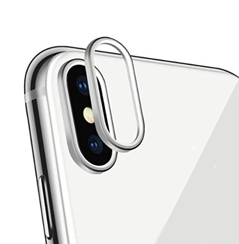 Sakula Camera Lens Protector Plating Aluminum for iPhone X Cameral Case Cover Ring Silver