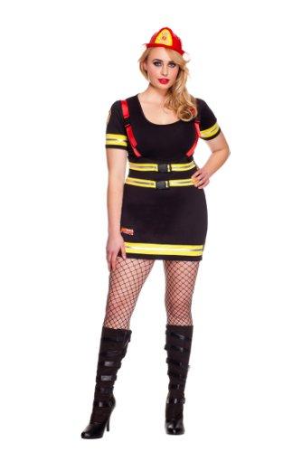 MUSIC LEGS Women's Plus-Size Fire Hazard Honey Plus Size, Black, 1X/2X