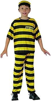 Disfraz de preso amarillo niño - 10-12 años: Amazon.es: Juguetes y ...