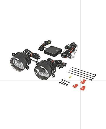 LEDriving FOG de OSRAM, luz antiniebla con LED con función de luz diurna, LEDFOG101, apropiada para sistemas eléctricos de 12 V y 24 V, tecnología de ...