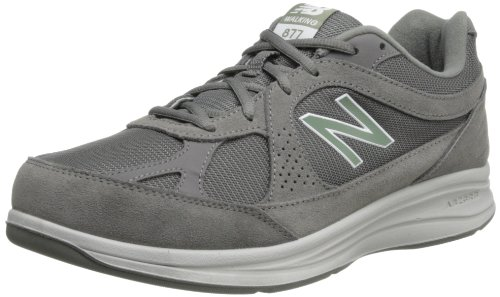 New Balance Men's MW877 Walking Shoe, Grey, 12 D US (Best Men's Walking Shoes With Arch Support)