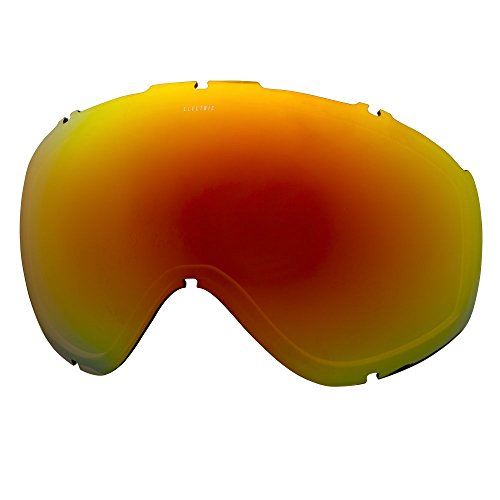 Chrome Masher (Electric Visual Masher Brose/Red Chrome Snow Goggle Lens)