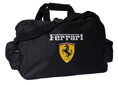 Ferrari Black Logo Duffle Travel Sport Gym Bag Backpack