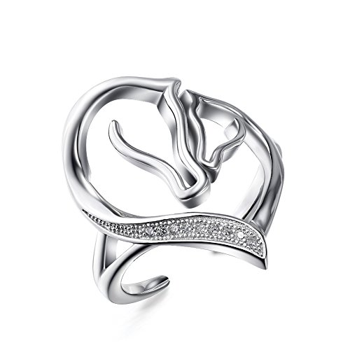 925-sterling-silver-mother-and-child-horse-head-heart-shape-open-ring-with-cubic-zirconia-us-size-6-