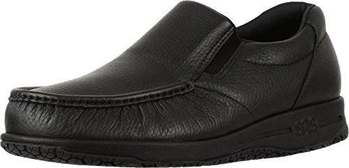 (SAS Men's, Navigator Slip on Walking Shoes Black 9.5 W)