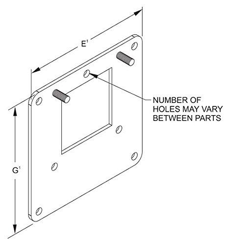 Wireway Reducer - Hammond 1487DRESS Edge Hole Reducers, 1487RESS Series