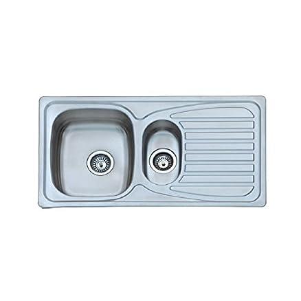 Arcook EV879B - Lavello da cucina da incasso, con 1 vasca + 1/2 ...