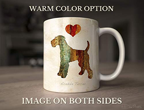 Airedale Terrier Dog Breed Mug by Dan Morris, Personalize with Dog Name