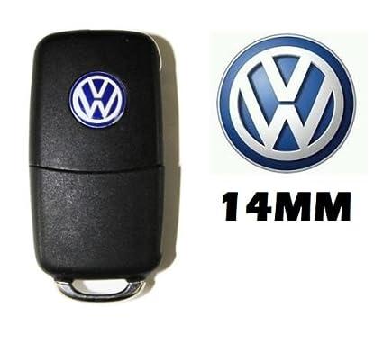 Volkswagen 2 * * * * * * * * New VW 14 mm en Aluminio chapas Llavero Emblema Adhesivo Pegatina Logo VW