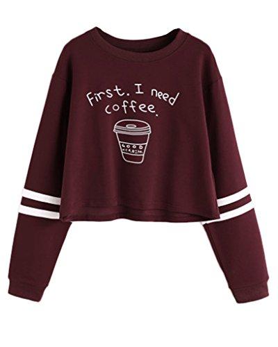 Minetom-Mujer-Otoo-Camisetas-De-Manga-Larga-Dos-Impreso-Blanco-Rayas-Sudaderas-Moda-Crop-Top