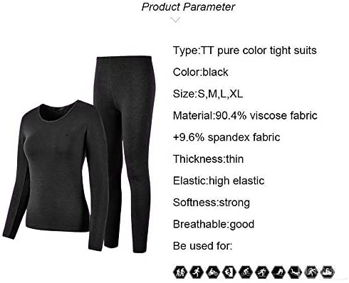Thermal Underwear Women Ultra-Soft Long Johns Set Base Layer Skiing Winter Warm Top & Bottom