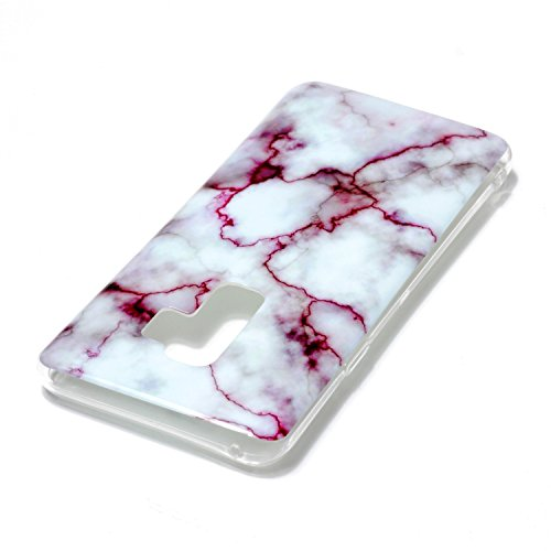 inShang funda para Samsung Galaxy S9+ funda del teléfono móvil, anti deslizamiento, ultra delgado y ligero, Estuche, Cubierta, carcasa suave hecho en el material de la TPU, cómodo Case Cover for Galax Rose marble