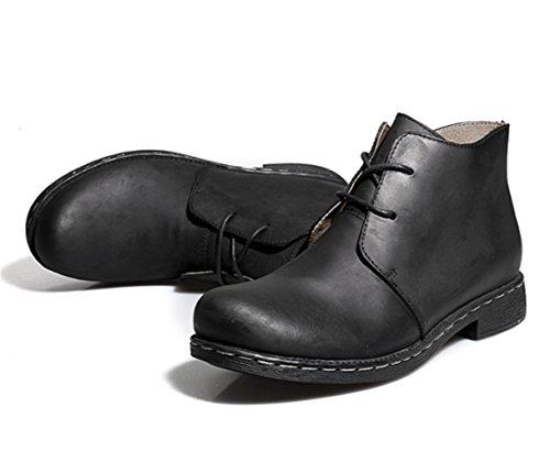 uomo da uomo stivali moto stivali moda stivali pelle stivali Inghilterra da alla stivali stivali da Nero Martin 2017 di tooling TMKOO scarpe militari scarpe xnTSYq4Hw8