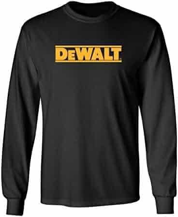 79b0ccfd89 Dewalt Tools Long Sleeve t-Shirt Contractor Professional Construction Racing