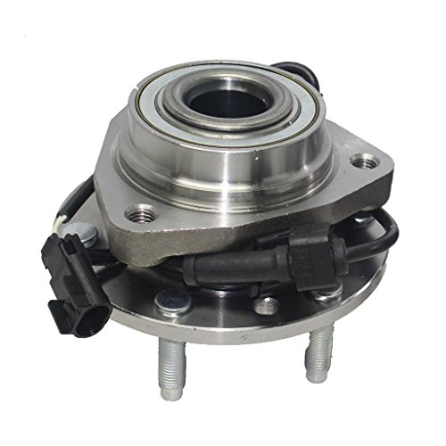(Detroit Axle - 6-Lug Rear Driver or Passenger Side Wheel Hub and Bearing Assembly fits FWD Only - 3 Bolt Flange)