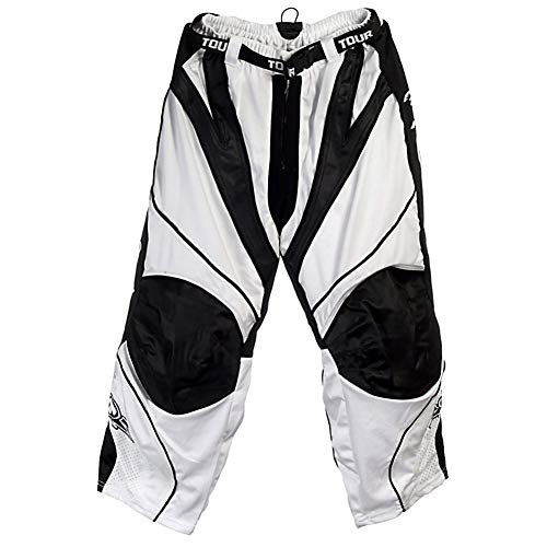 Pants Line In Hockey (Tour Spartan Pro Series Junior Inline Hockey Pants - 2010-White/Black-Large)