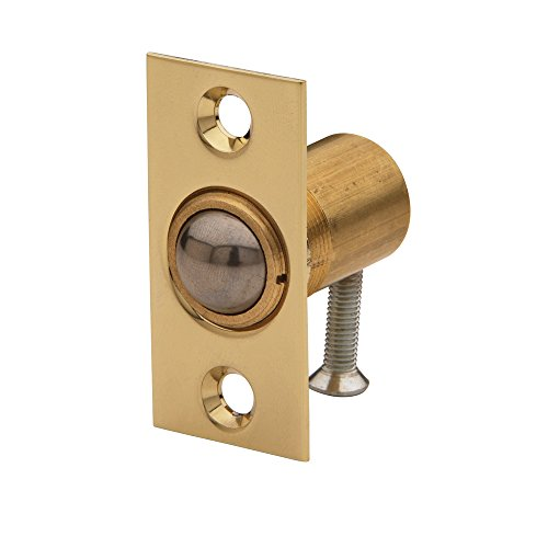 Baldwin Estate 0426.003 Solid Brass Adjustable Ball Catch in Lifetime Polished Brass, 1.37