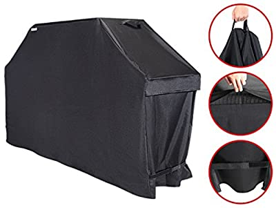 Unicook Premium Heavy Duty Barbecue Grill Cover, 60-inch, Easy Lifting Handles, Helpful Air Vents