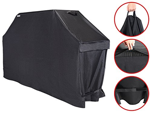 Unicook Heavy Duty Barbecue Grill Cover, 60-inch, Easy Lifting Handles, Helpful Air Vents, All Weather Protection