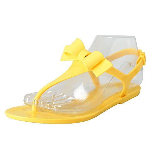 Women's Shoes Strappy Rubber Sandals Yellow Valentino Yellow Red UqC1P1