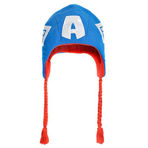 Captain America Fleece Hat - Marvel Captain America Peruvian