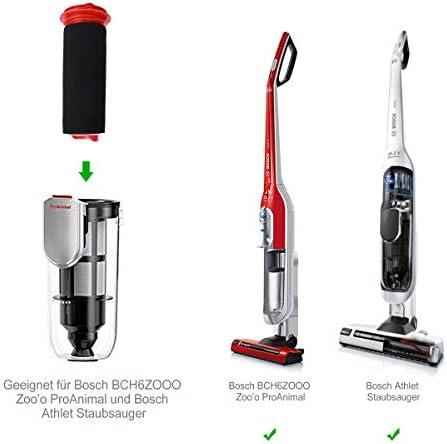 2 pcs Filtro para aspiradora Bosch, 2 pcs filtro de repuesto. Accesorios de filtro de espuma compatibles con el aspirador Athlet Bosch BCH6L2560 BCH6L2561 / Bosch BCH6ZOOO Aspirador ProAnimal Zooo: Amazon.es: Hogar