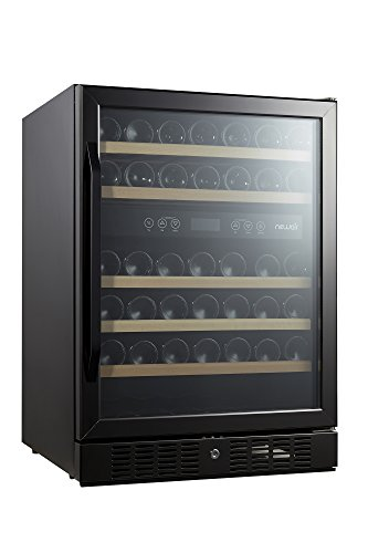 NewAir AWR-460DB-B Dual Zone 46 Bottle Built in Wine Cooler, Black Stainless Steel by NewAir