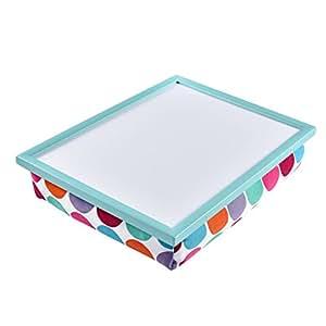 WELLAND Multi Tasking Laptop Breakfast Serving Bed Tray Lap Desk (Colorful Dot)