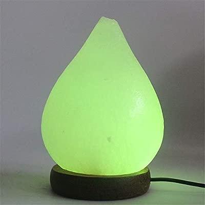 Lámpara de sal creativa Tipo de gota de agua Grabado USB ...