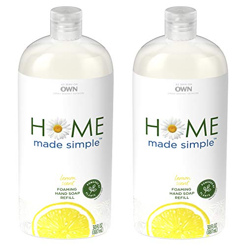 Home Made Simple Foaming Hand Soap Refill, Lemon Scent, 30 Fluid Ounce (Twin Pack) ()