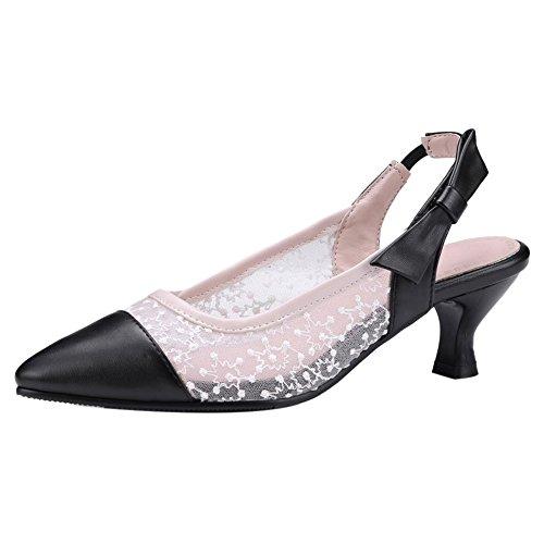 Coolcept Women Fashion Slingback Sandals Closed Toe Pink zsT30CgkGc
