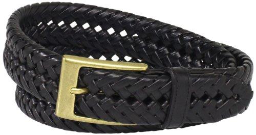 Dockers Men's 1 3/16 in. Glazed Top Braided Belt,Black,38 (Black Braided Leather Belt)