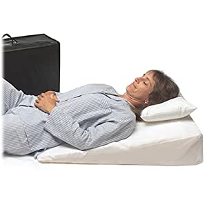 """Wedge Pillow for Acid Reflux (32""""x24""""x7"""") Folding Pillow includes Zippered Poly-Cotton Folding Cover, Fitted Poly-Cotton Cover and Quality Carry Case. Dr. Mike Roizen's Top Reflux Solution"""