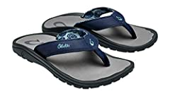 You will treasure this OluKai™ Ohana Sandal like your own 'Family.' Part of the Makai (Toward The Ocean) Collection. Water resistant, quick drying and multi-purpose sandal. Synthetic leather water resistant upper strap with OluKai logo. Jers...