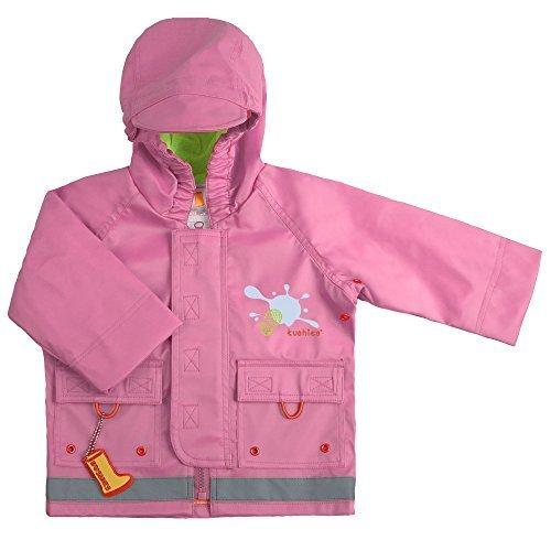 Kushies Hooded Rain Jacket And Pant Set, Pink, 12 24 Months