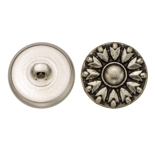 C&C Metal Products 5229 Modern Metal Button, Size 36 Ligne, Antique Nickel, 36-Pack by C&C Metal Products Corp