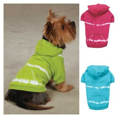 Tie Dye Dog Hoodie Color: Parrot Green, Size: Small / Medium, My Pet Supplies