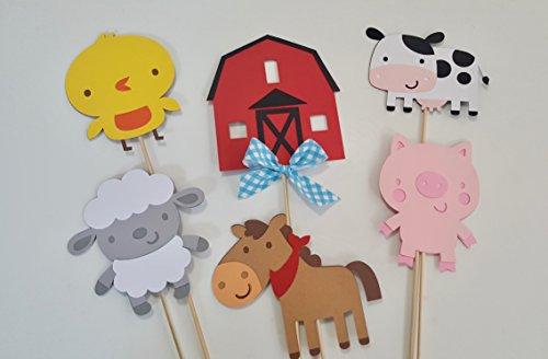 Barn Farm Animal Centerpiece set of 6 -
