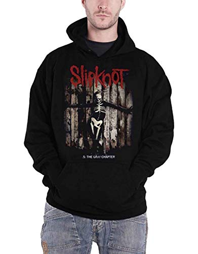 Slipknot Gray Chapter Album Cover Official Mens Black Pullover Hoodie
