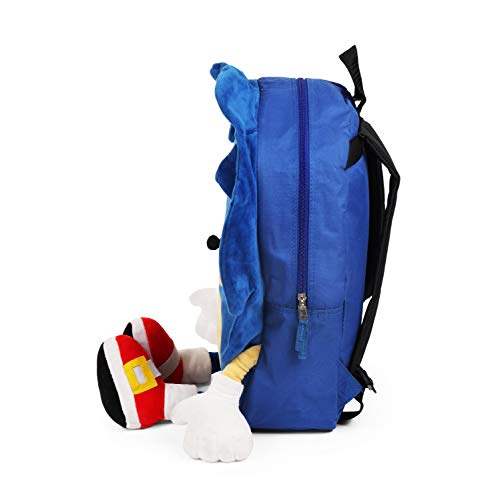 FAB Starpoint Sonic The Hedgehog Plush Full Body Blue Backpack