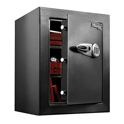 Master-Lock-T8-331ML-Caja-Fuerte-de-Alta-Seguridad-1199-l-combinacion-Digital-XL-Gran-Capacidad-de-almacenaje-para-Guardar-articulos-valiosos-Negro