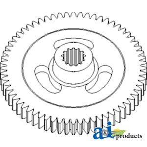 - A&I - Gear, Impeller; 64 Tooth, Splined (Rotary Impeller Mower Conditioner). ...