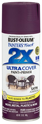 - Rust-Oleum 257419-6 PK Painter's Touch 2X Ultra Cover, 12 oz, Aubergine