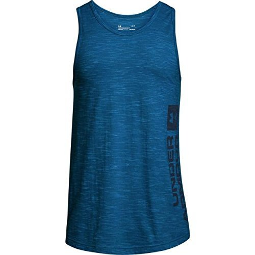 - Under Armour Mens sportstyle Graphic Tank, Loft Teal (296)/Black, XX-Large